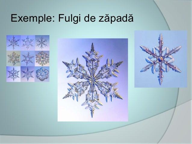Exemple: Fulgi de zăpadă