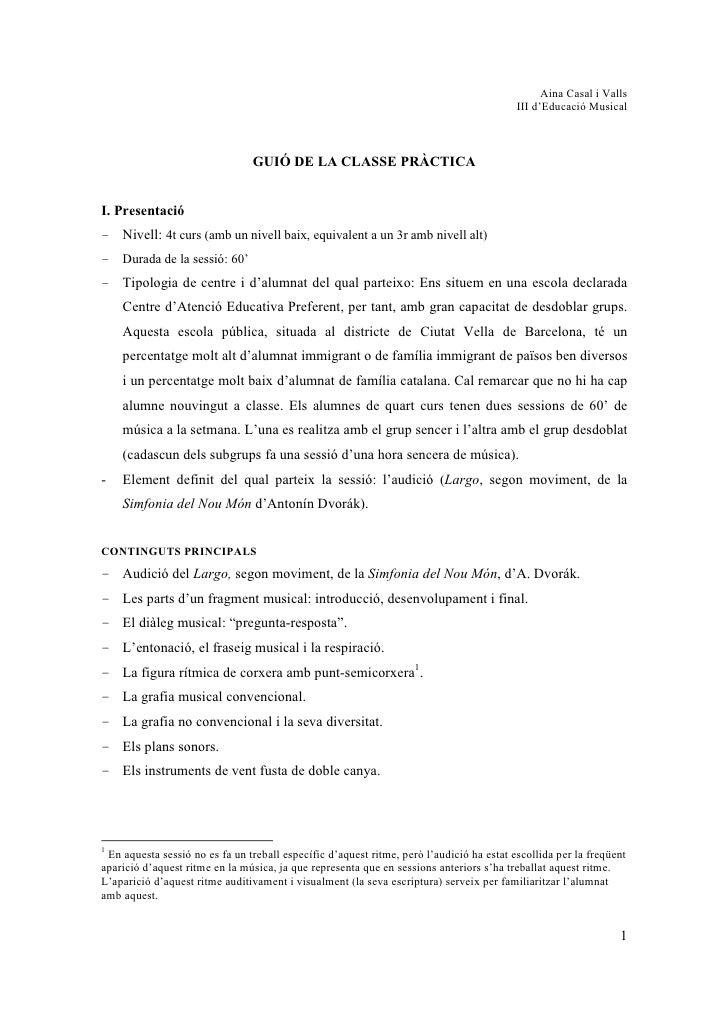 Aina Casal i Valls                                                                                           III d'Educaci...