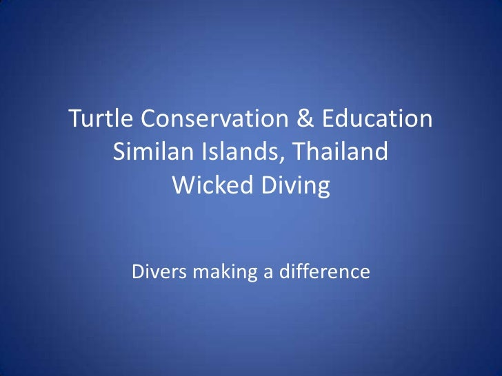 Turtle Conservation & EducationSimilan Islands, ThailandWicked Diving <br />Divers making a difference<br />
