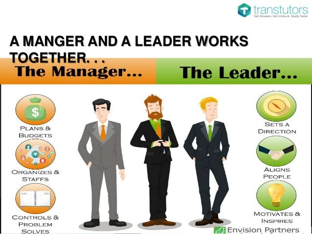a comparison between leadership and management Definitions of the difference between leadership and management - and the complexity of their relationship.