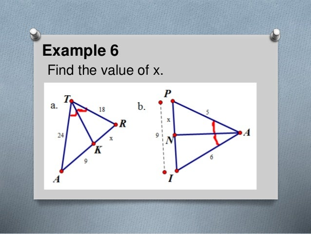 Example 6 Find the value of x.