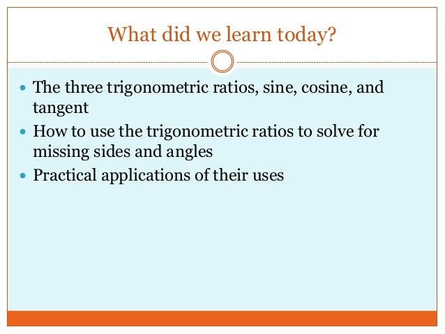 Similar triangles and trigonometric ratios