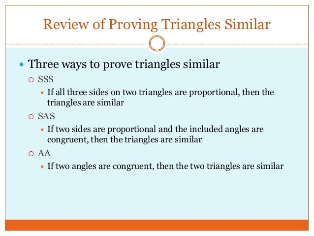 Similar triangles and trigonometric ratios