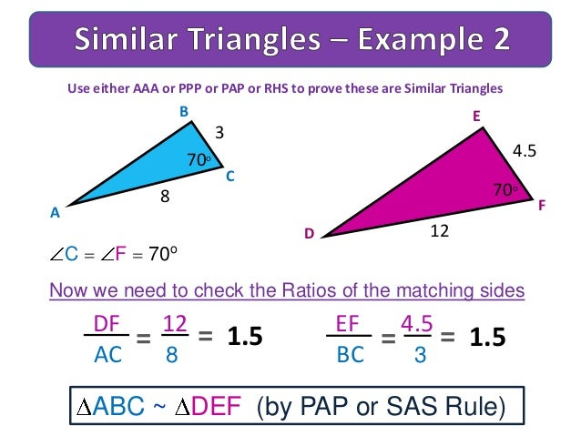how to draw similar triangles