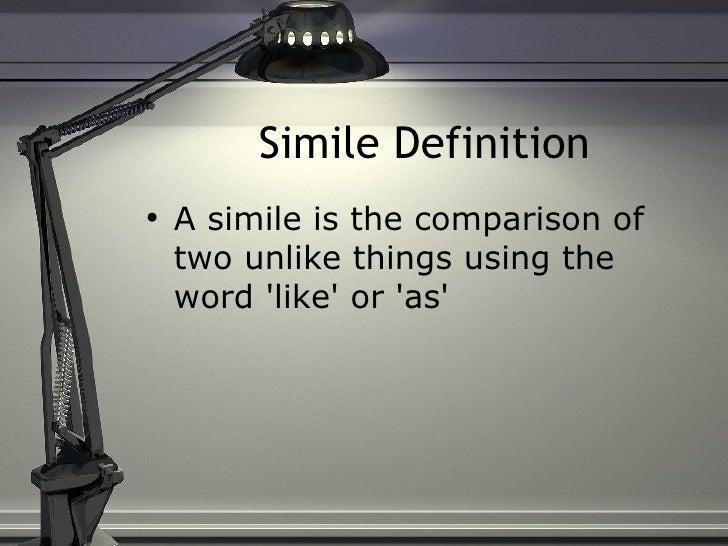 Simile and metaphors Slide 2
