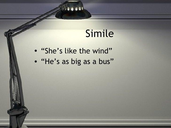 Simile and metaphors Slide 3