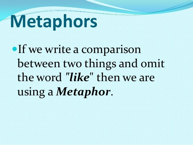 how to come up with metaphors
