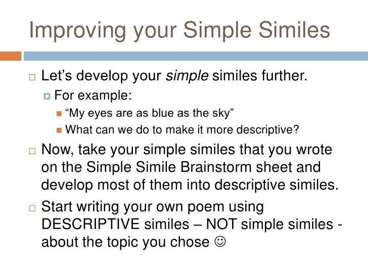 Simile Poems Grade 10