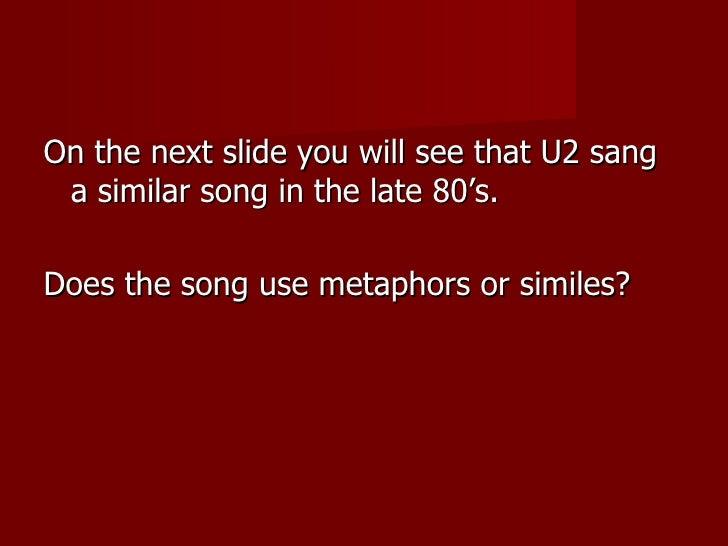 Similes and metaphors 2012