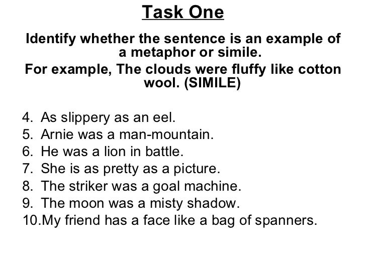 proper usage of metaphors and similes An introduction to metaphors and some metaphor examples show how to use this often missused figure of speech.