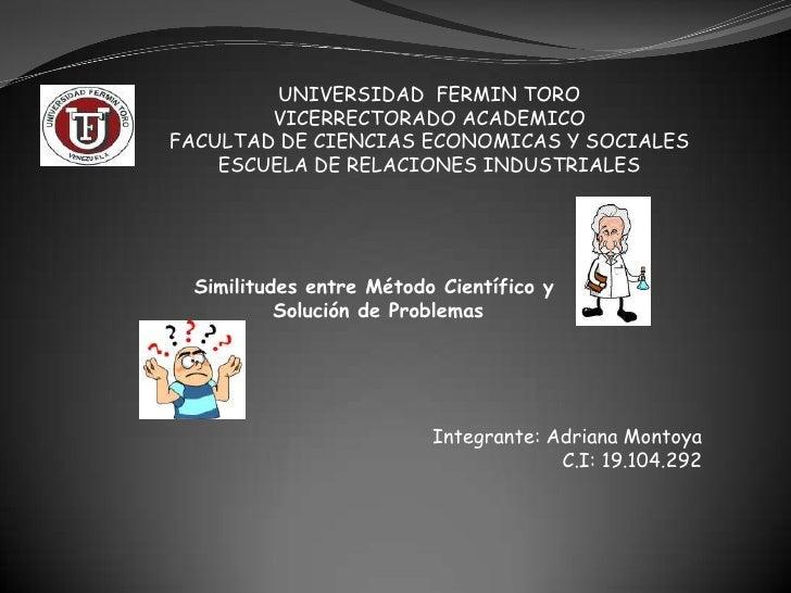 UNIVERSIDAD FERMIN TORO        VICERRECTORADO ACADEMICOFACULTAD DE CIENCIAS ECONOMICAS Y SOCIALES    ESCUELA DE RELACIONES...