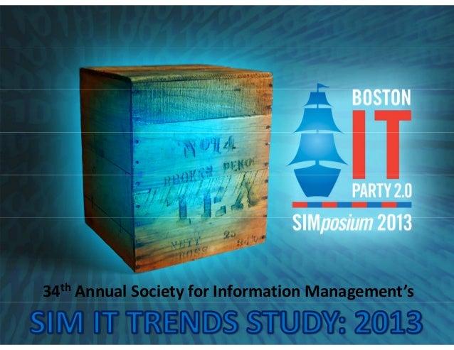 34th AnnualSocietyforInformationManagement's