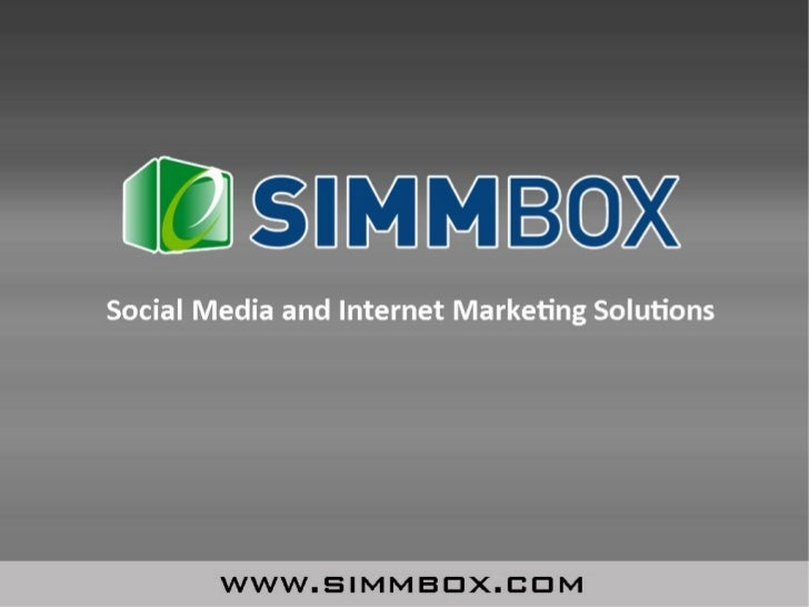 SimmBox Social Media & Internet Marketing Packages