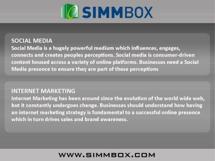 SimmBox Social Media & Internet Marketing Packages Slide 3