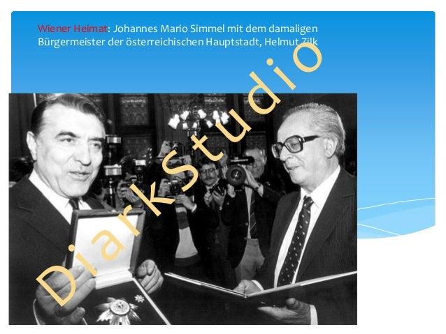 Wiener Heimat: Johannes Mario Simmel mit dem damaligen Bürgermeister der österreichischen Hauptstadt, Helmut Zilk