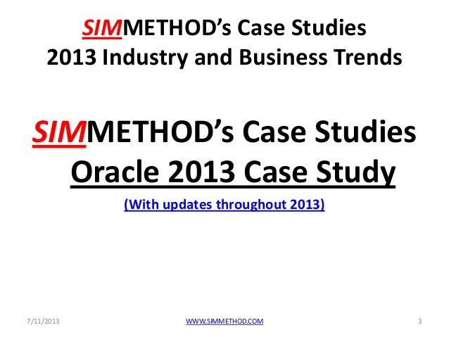 oracle corporation case study Bmcc – oracle exadata technical case study 1 overview bmcc (beijing mobile communications corporation, or beijing mobile) is one of 32 operating subsidiaries of china mobile limited.