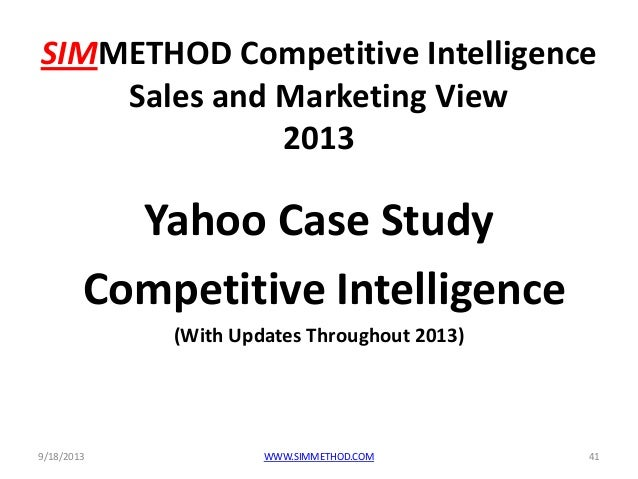 a case study on yahoo