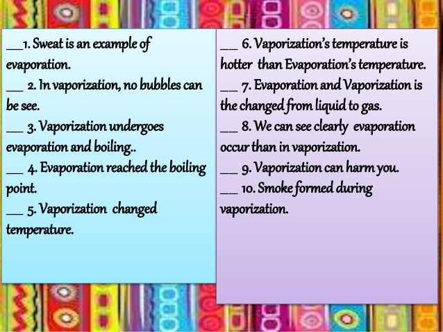 Sim Difference Between Evaporation And Vaporization