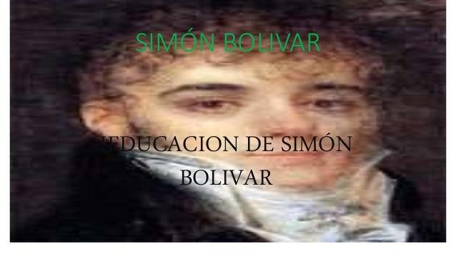 SIMÓN BOLIVAR IEDUCACION DE SIMÓN BOLIVAR