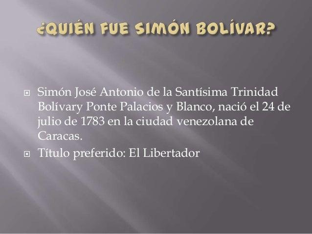 Simón bolívar Slide 2