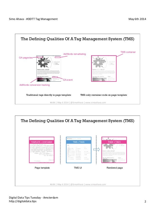 Digital Data Tips Tuesday #1 - Tag Management: Simo Ahava - NetBooster Slide 2