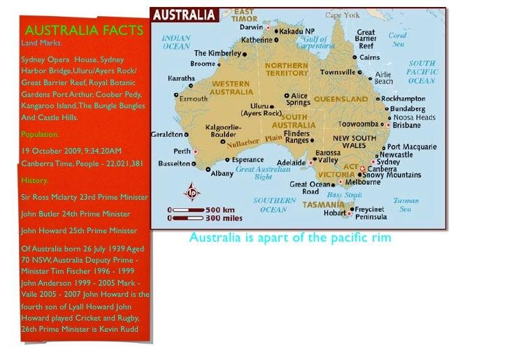 AUSTRALIA FACTS Land Marks.  Sydney Opera House, Sydney Harbor Bridge,Uluru/Ayers Rock/ Great Barrier Reef, Royal Botanic ...