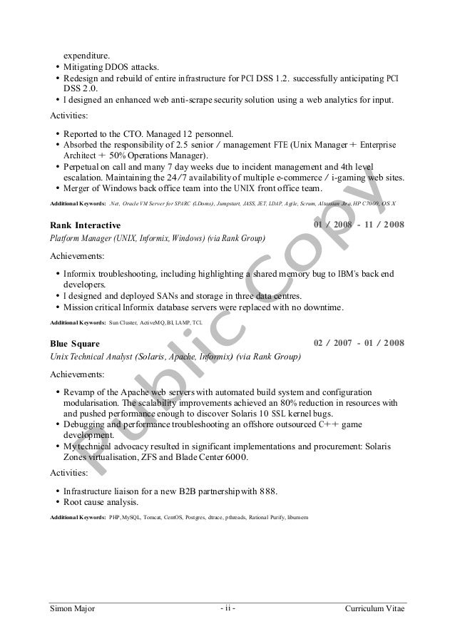 escalation manager resume resume for an it project manager
