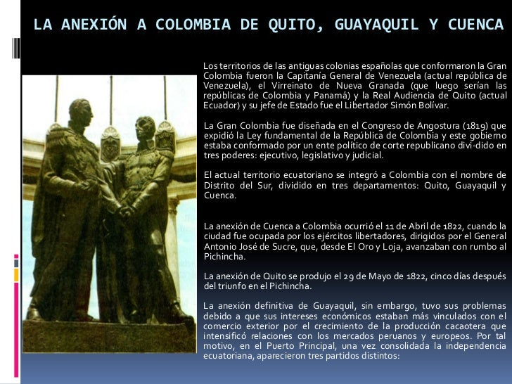 Simón Bolívar La Gran Colombia Y El Ecuador