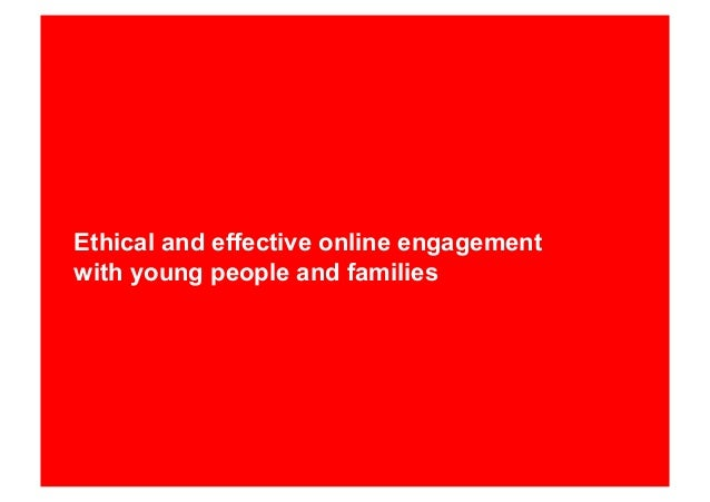 Ethical and effective online engagement with young people and families