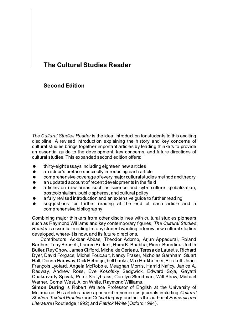 essay raymond williams cultural studies reader edited simon during The cultural studies reader [simon during] on amazoncom  writing  ethnographic fieldnotes, second edition (chicago guides to writing, editing,  and.