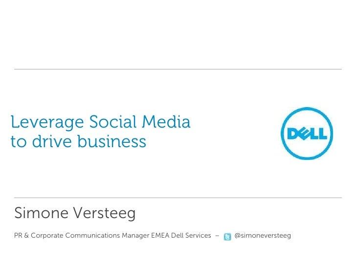 F5-sessie Juni - presentatie van Simone Versteeg, Dell