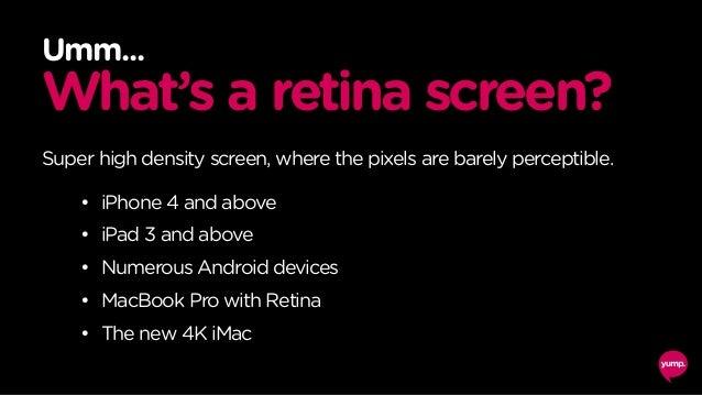 300 x 200 JPG 80% quality 21 kilobytes 600 x 400 JPG 31% quality 16 kilobytes (25% smaller file!) http://j.mp/retina-now D...