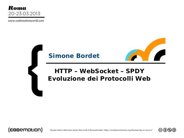 1Simone Bordetsbordet@intalio.comHTTP – WebSocket – SPDYEvoluzione dei Protocolli WebSimone Bordet