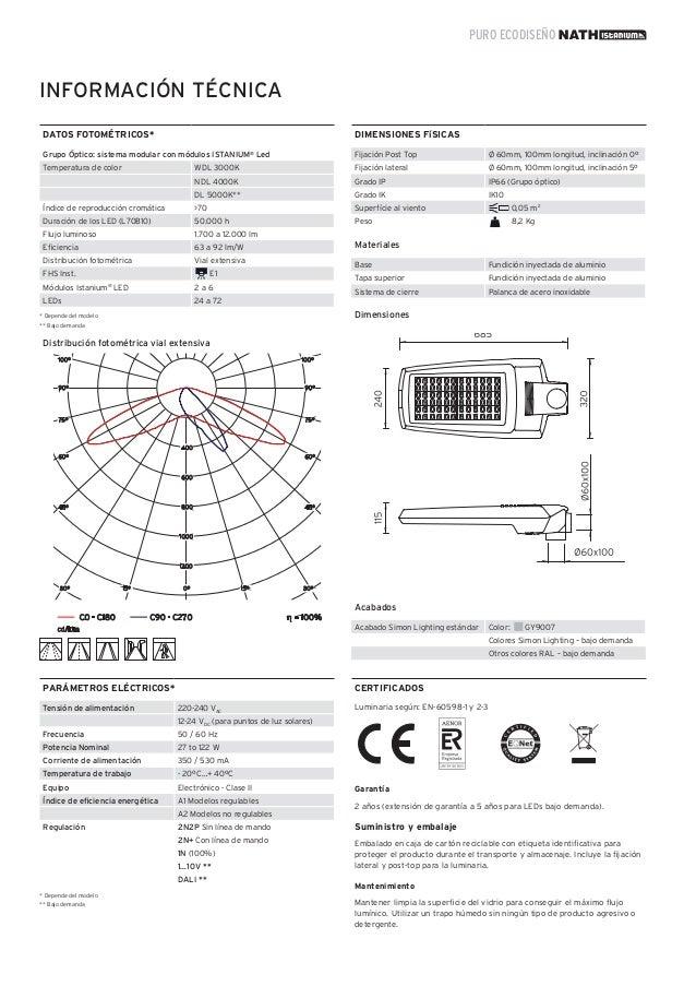 Simon Lighting Luminarias viales - Nath Istanium® LED - photo#26