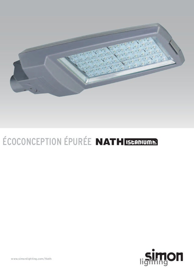 ÉCOCONCEPTION ÉPURÉE  www.simonlighting.com/Nath