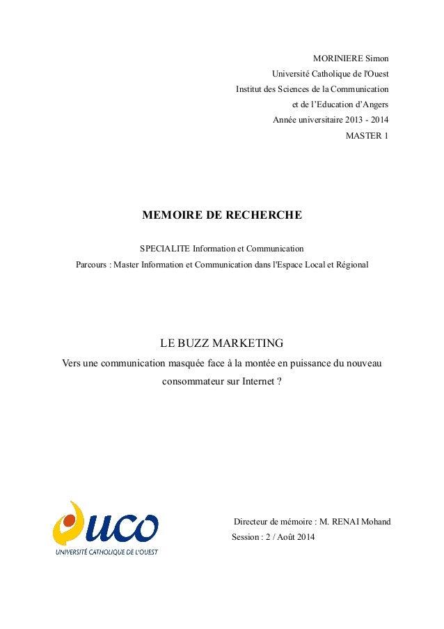 MORINIERE Simon  Université Catholique de l'Ouest Institut des Sciences de la Communication  et de l'Education d'Angers  A...