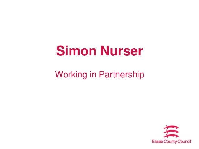 Simon Nurser Working in Partnership