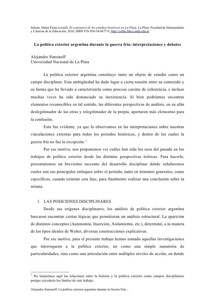 Infesta, María Elena (coord). El centenario de los estudios históricos en La Plata. La Plata: Facultad de Humanidadesy Cie...