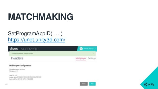 Unity how to create a matchmaking system