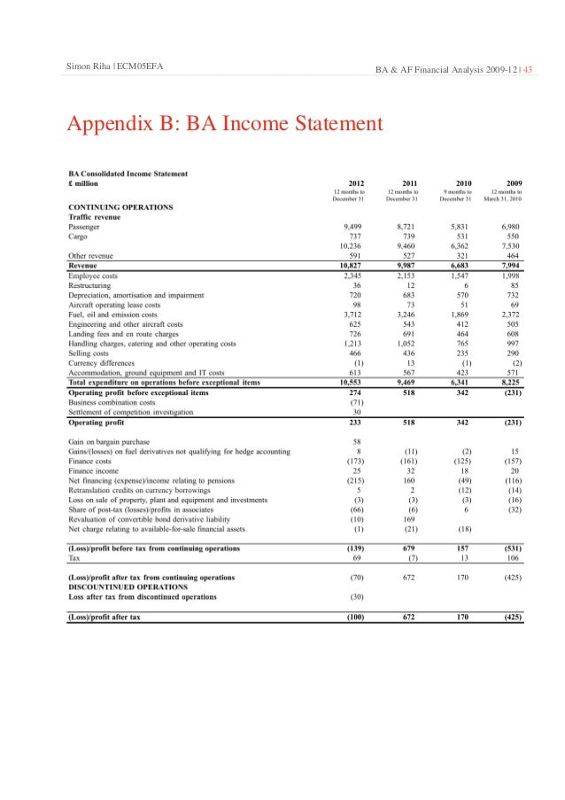 financial analysis of british airways There will be a financial hit to ba as it compensates its customers – up to £150 million is the latest estimate he insisted at the weekend that the systems failure was totally unconnected to the outsourcing move, although the unions claimed otherwise earlier this year ba scrapped free food and drink on.