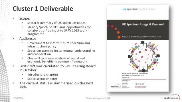 UK Spectrum Policy Forum - Simon Saunders, Real Wireless - Progress U…