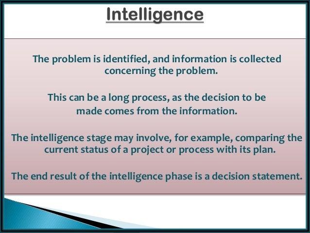 intelligence phase of decision making