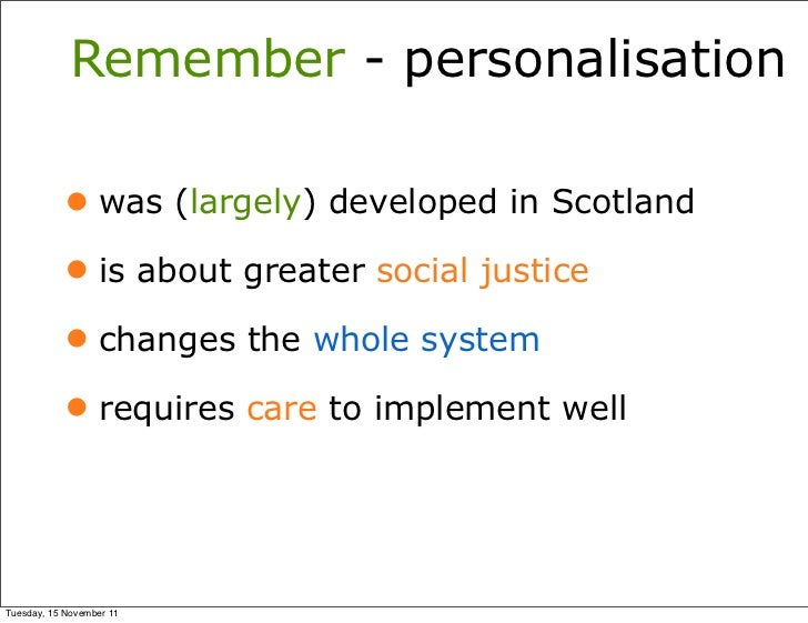 Whole System Change, the meaning of personalisation  - Simon Duffy Slide 3
