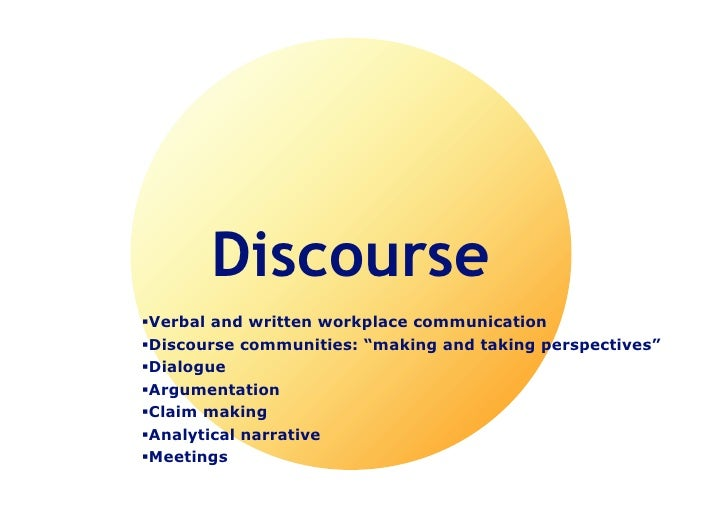 "discourse communities A discourse course community is a group of people that share a common goal toward reading and writing in john swales article, ""the concept of discourse."