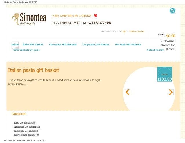 Gift baskets Toronto Free Delivery - SIMONTEA                                                                             ...