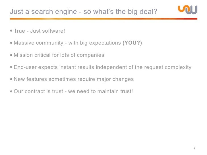 Challenges in Maintaining a High Performance Search Engine