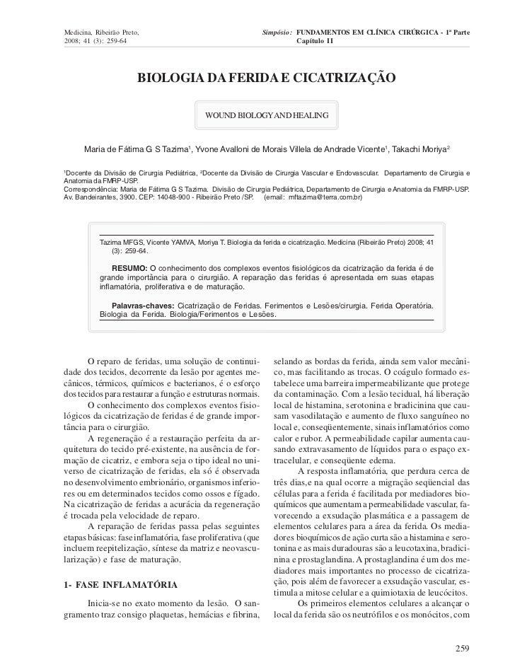 Medicina, Ribeirão Preto,                                      Simpósio: FUNDAMENTOS EM CLÍNICA CIRÚRGICA - 1ª Parte2008; ...