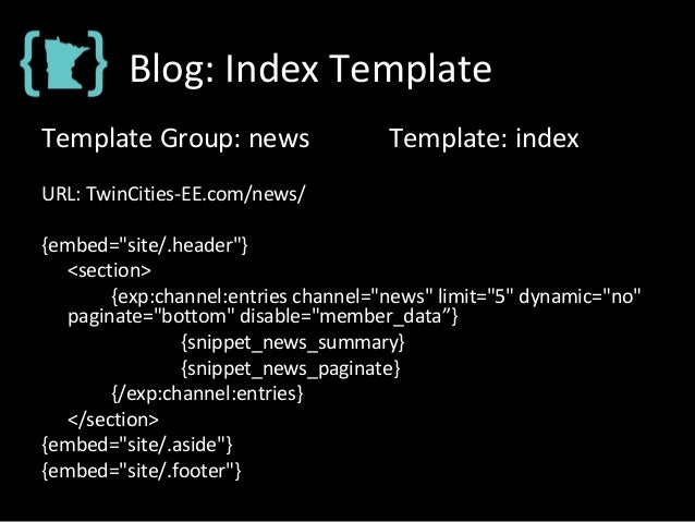 """Blog: Index Template Template Group: news Template: index URL: TwinCities-EE.com/news/ {embed=""""site/.header""""} <section> {e..."""