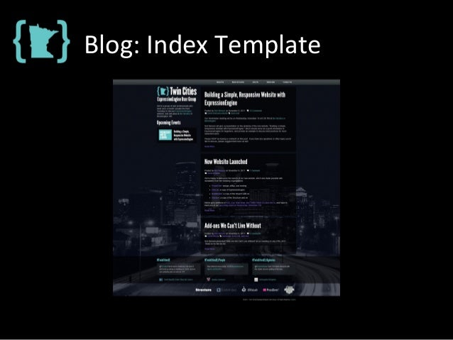 Blog: Index Template