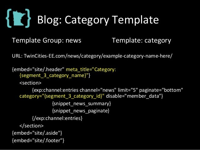 Blog: Category Template Template Group: news Template: category URL: TwinCities-EE.com/news/category/example-category-name...